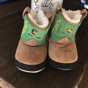 John Deere Toddler Slipper Boots size 5-6